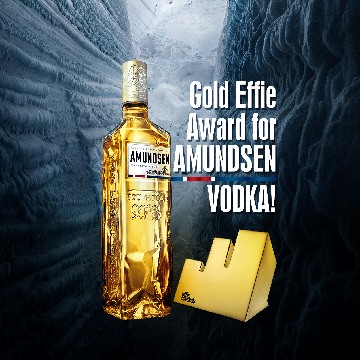 Stock Polska's Amundsen Vodka #Explore More! campaign wins gold in 2019 Effie Awards